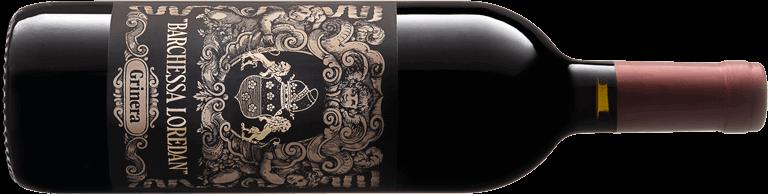 Bottiglia di vino rosso Grinera IGT Colli Trevigiani Merlot.