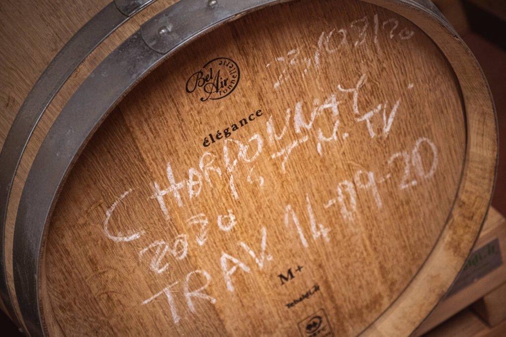 Barrique francese usata per il vino Chardonnay prodotto nei vigneti della Cantina Barchessa Loredan a Selva e Volpago del Montello.